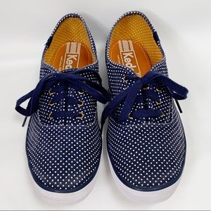 Keds Blue Champion Micro Polka Dot Fashion Sneaker